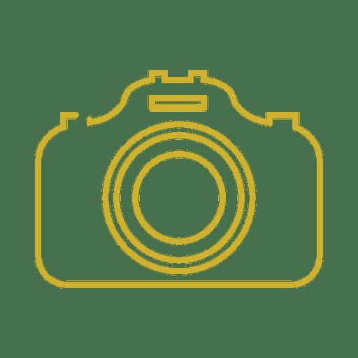 Línea de cámara amarilla icon svg - Descargar PNG/SVG transparente