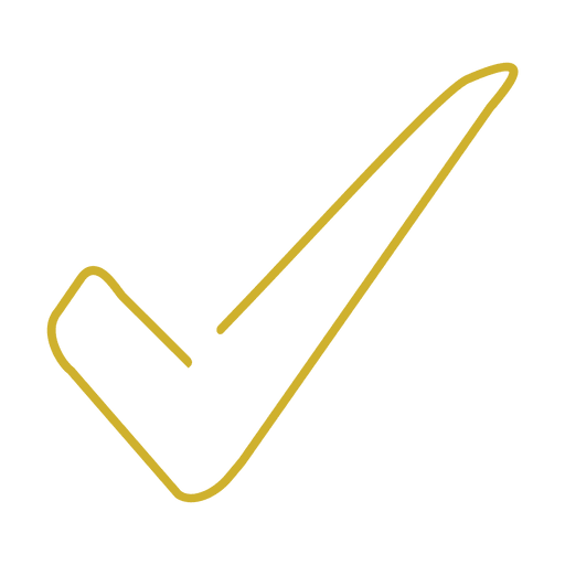 Yellow check line icon.svg Transparent PNG