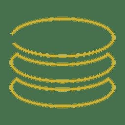 Linha de pilha de círculo amarelo icon.svg