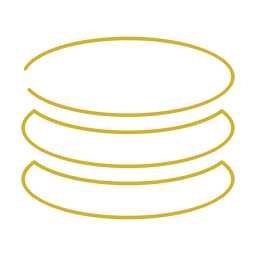 Yellow circle stack line icon.svg