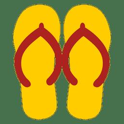 Sandálias de chinelos amarelos