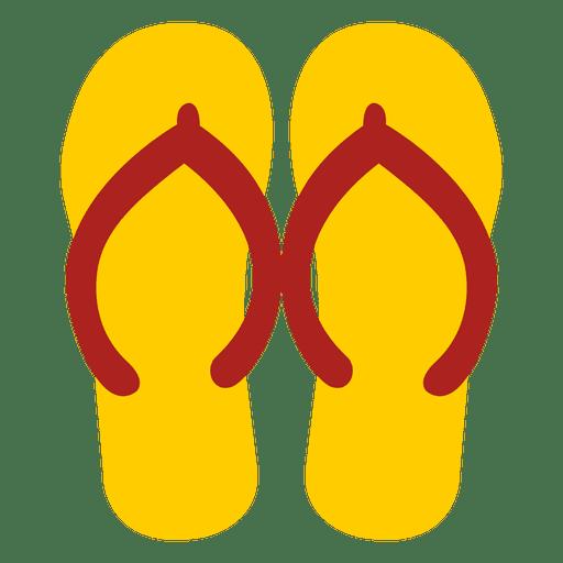 Yellow flip flops sandals Transparent PNG