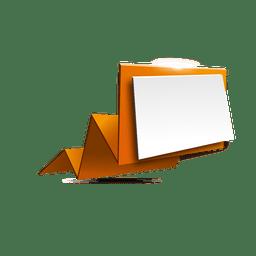 Gelb gefaltete Origami-Banner