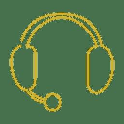 Línea amarilla para auriculares icon.svg