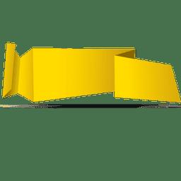 Bandera amarilla de origami horizontal