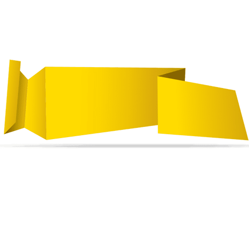 Yellow horizontal origami banner Transparent PNG