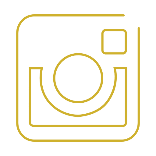 Yellow instagram line icon.svg Transparent PNG