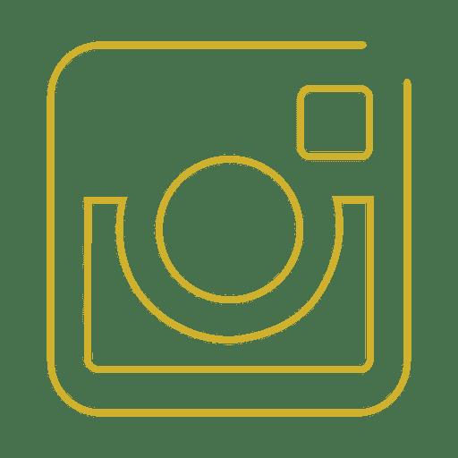 Yellow instagram line icon.svg