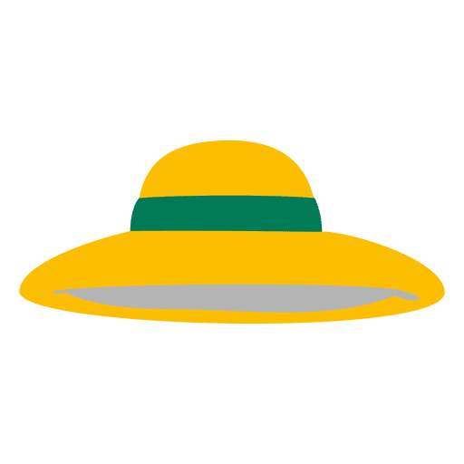 Chapéu de senhoras amarelo Transparent PNG