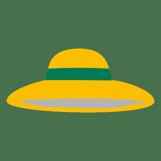 Yellow ladies hat Transparent PNG