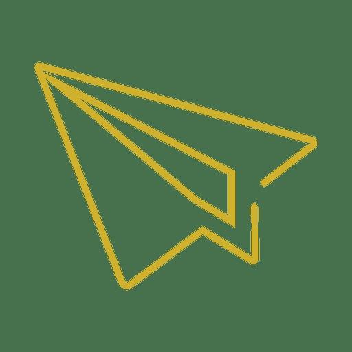 Yellow mouse cursor line icon2 svg - Transparent PNG & SVG