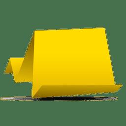 Bandera de papel de origami amarillo