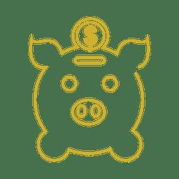 Línea amarilla de banco pigg icon.svg