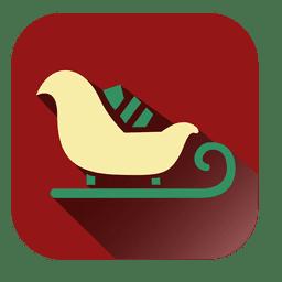 Symbol mit gelbem Schlitten und rotem Quadrat