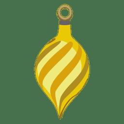 Bola de natal de listras amarelas