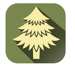Yellow xmas tree square icon