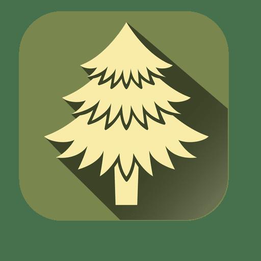 Yellow xmas tree square icon Transparent PNG