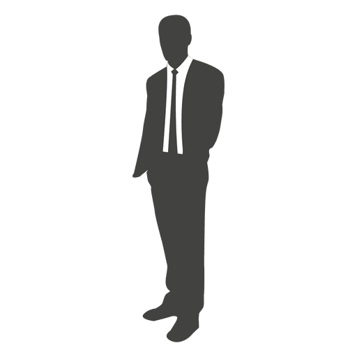 Young businessman standing silhouette Transparent PNG