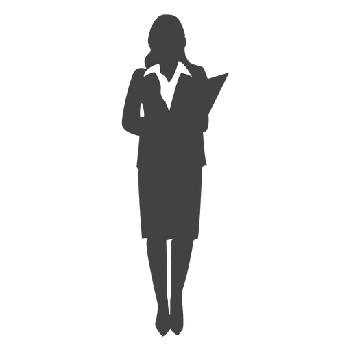Young female executive silhouette Transparent PNG
