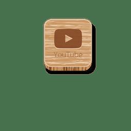 Ícone quadrado de madeira do Youtube 1