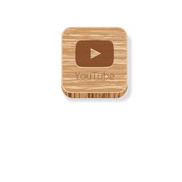 Youtube wooden square icon 1