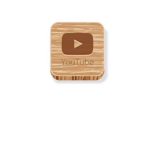Youtube wooden square icon 1 Transparent PNG