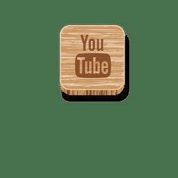 Youtube quadrado de madeira ícone 2