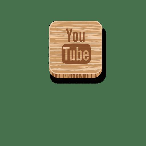 Youtube quadrado de madeira ícone 2 Transparent PNG