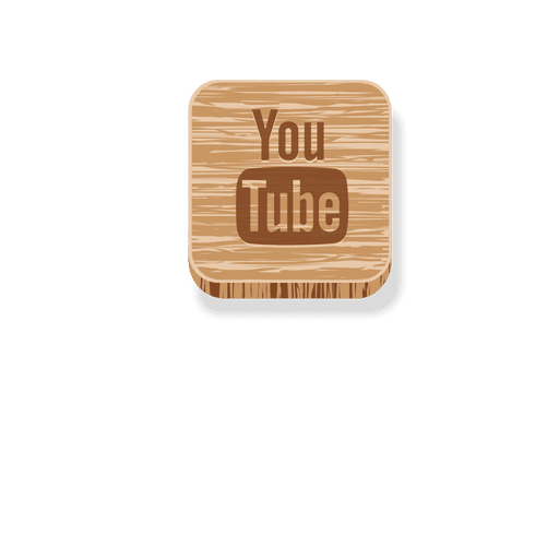 Youtube wooden square icon 2 Transparent PNG