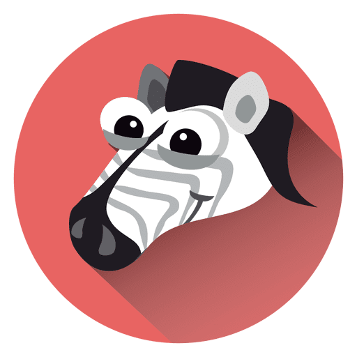Zebra cartoon circle icon Transparent PNG