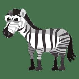 Zebra dos desenhos animados engraçados