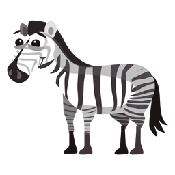 Zebra lustige Karikatur