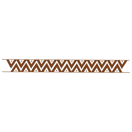 Zigzag drawing border pattern Transparent PNG