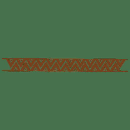 Zigzag drawing border pattern