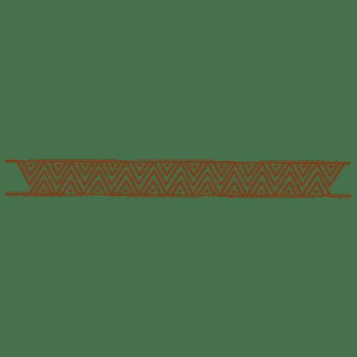 marco de dibujo línea en zigzag - Descargar PNG/SVG transparente