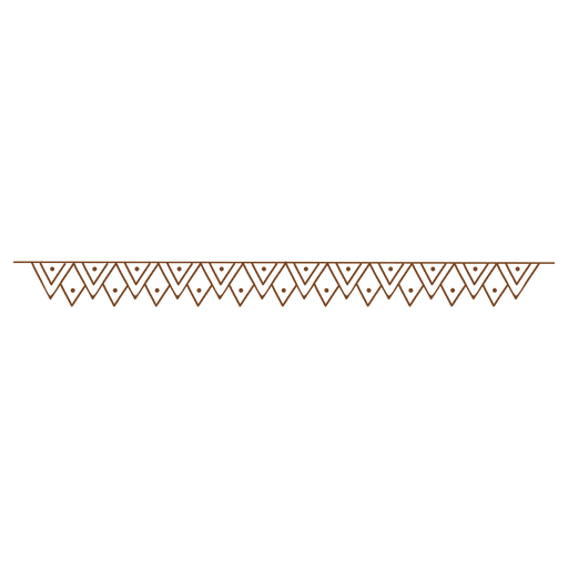 Zigzag triangle dot border Transparent PNG