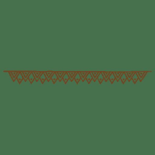 Zigzag triangle dot border
