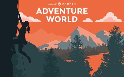 El ir de excursión de aventura creador del cartel