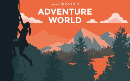 Hiking adventure poster creator