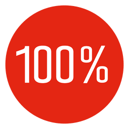 100 percent completed circle infographic