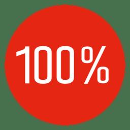 100 por cento concluído círculo infográfico