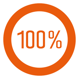 Infográfico de anel laranja 100%