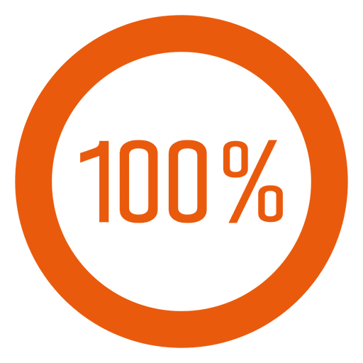 100 percent orange ring infographic Transparent PNG