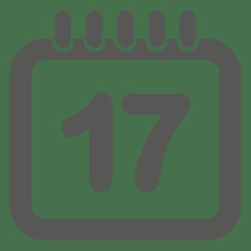 17 icono de calendario de fecha