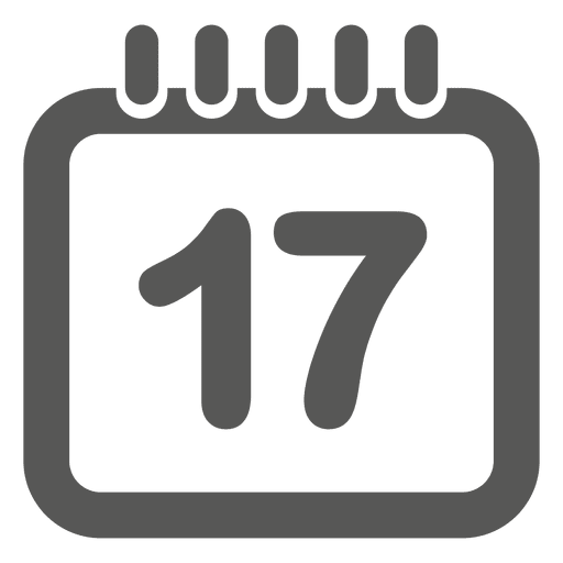 17th date calendar icon