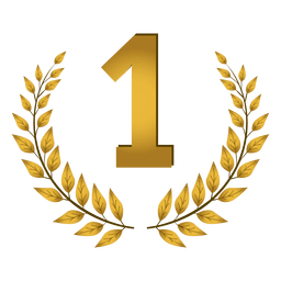 1º lugar emblema de louro