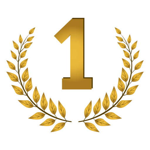 1er lugar insignia de laurel Transparent PNG