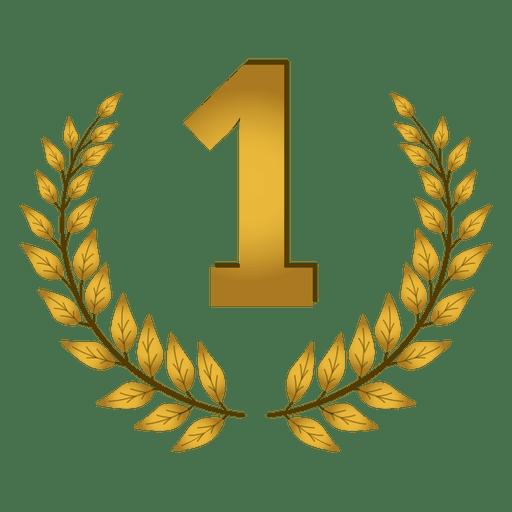 1er lugar insignia de laurel