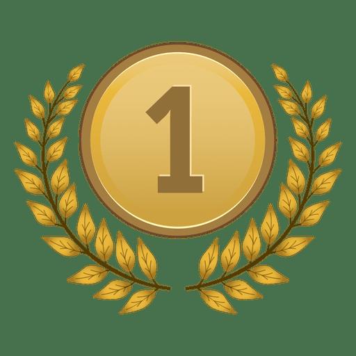 1er lugar medalla de laurel Transparent PNG