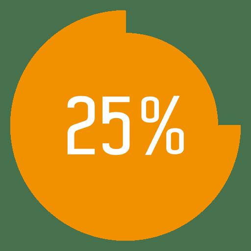 25 percent circle infographic Transparent PNG